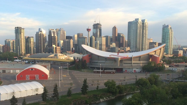 The Calgary skyline is seen in this file image.
