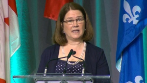 Health Minister Jane Philpott at the National Health Leadership Conference in Ottawa, on June 6, 2016.