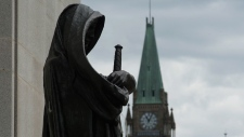 The Peace tower on Parliament Hill