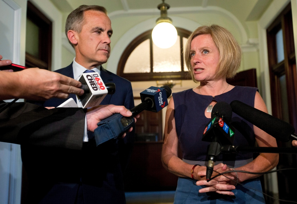 Rachel Notley and Mark Carney