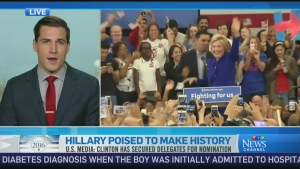 CTV News Channel: Hillary poised to make history