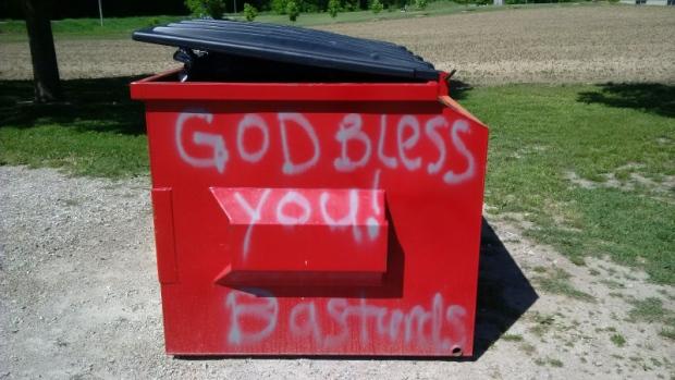 Vulgar messages spray-painted on Mennonite church | CTV