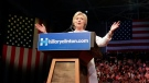 Democratic presidential candidate Hillary Clinton speaks during a presidential primary election night rally in New York on Tuesday, June 7, 2016. (AP / Julie Jacobson)