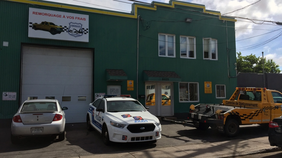 Montreal's major crimes unit raided several towing companies on Wednesday June 8, 2016 (CTV Montreal/Christophe Terrade)