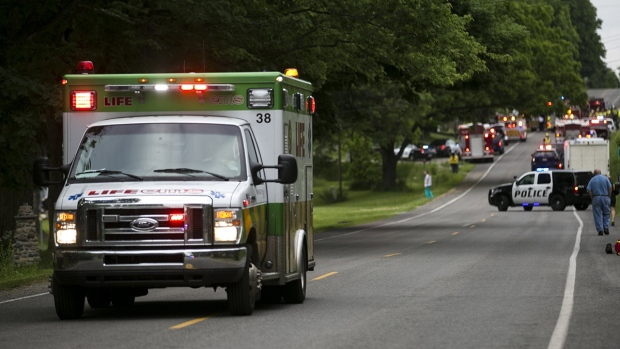 Five killed after truck crashes into bicyclists