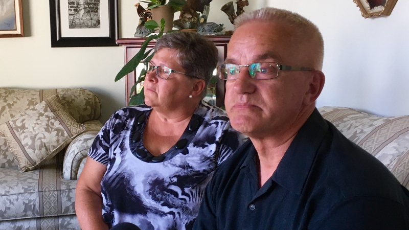 Lou Van de Vorst, with his wife Linda by his side, speaks to CTV News from his home in Saskatoon on Wednesday, June 8, 2016. (Damien Kent/CTV Saskatoon)