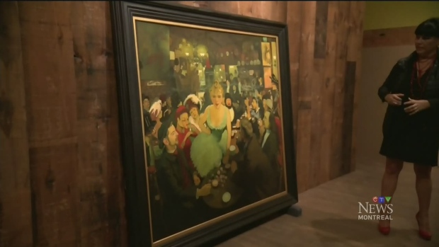 A painting by Louis Anquetin hangs in the Montreal Museum of Fine Arts