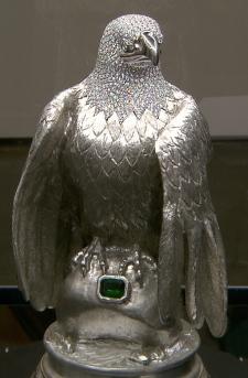 Silver eagle decoy