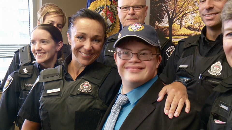 The Ottawa Police Service makes Jacob Demers-Barrett an honorary member for a day, June 9, 2016
