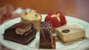 An assortment of some of the Queen's favourite desserts.