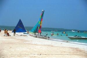 The beach in Negril, Jamaica, is seen on Thursday, June 29, 2000. (AP / Collin Reid)