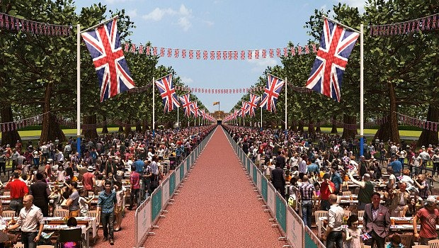 A wide shot of the Patron's lunch (Source: @thepatronslunch via twitter)