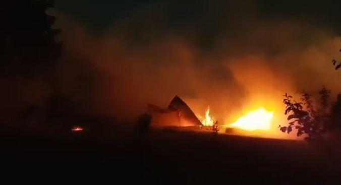 Barn fire in Mount Forest