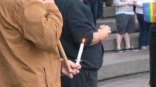 Calgary pride vigil