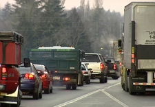 Traffic congestion in the Lower Mainland will be alleviated with the reopening of the Pattullo Bridge in early February, two weeks sooner than expected. Wednesday, Jan. 21, 2009.