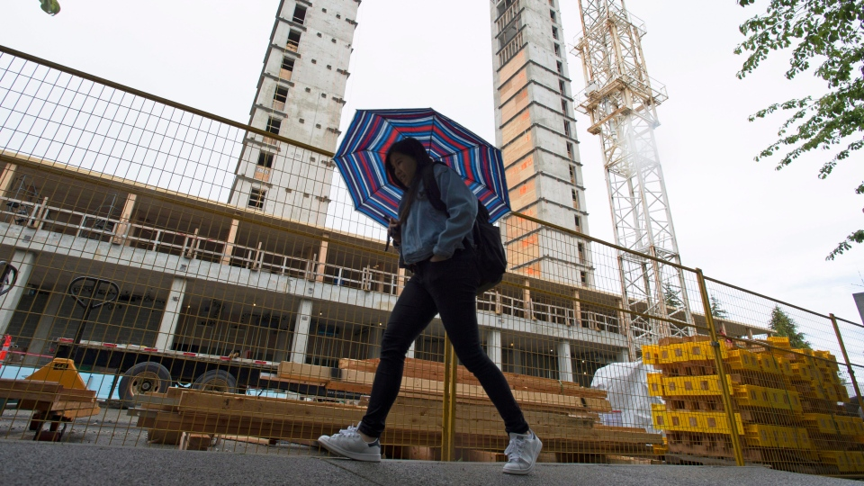A new building is being built at the University of British Columbia campus in Vancouver, B.C., Monday, June, 13, 2016. (Jonathan Hayward / THE CANADIAN PRESS)