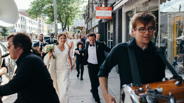 Newlyweds Evert Houston and Diana Wright