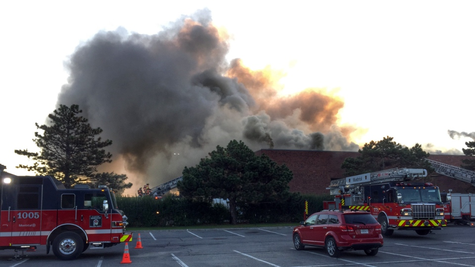 A five-alarm fire broke out Wednesday June 15, 201