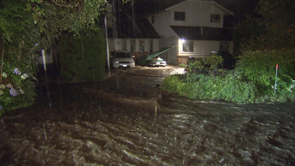 A number of West Vancouver residents were forced to flee their homes in the middle of the night after an overnight storm caused serious flooding. (CTV)