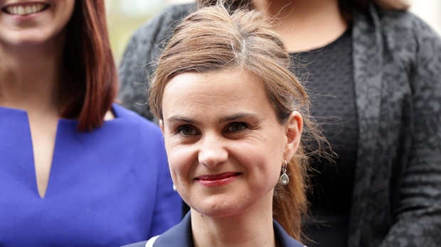 In this May 12, 2015 photo, Labour Member of Parliament Jo Cox poses for a photograph. (Yui Mok/PA via AP, File)