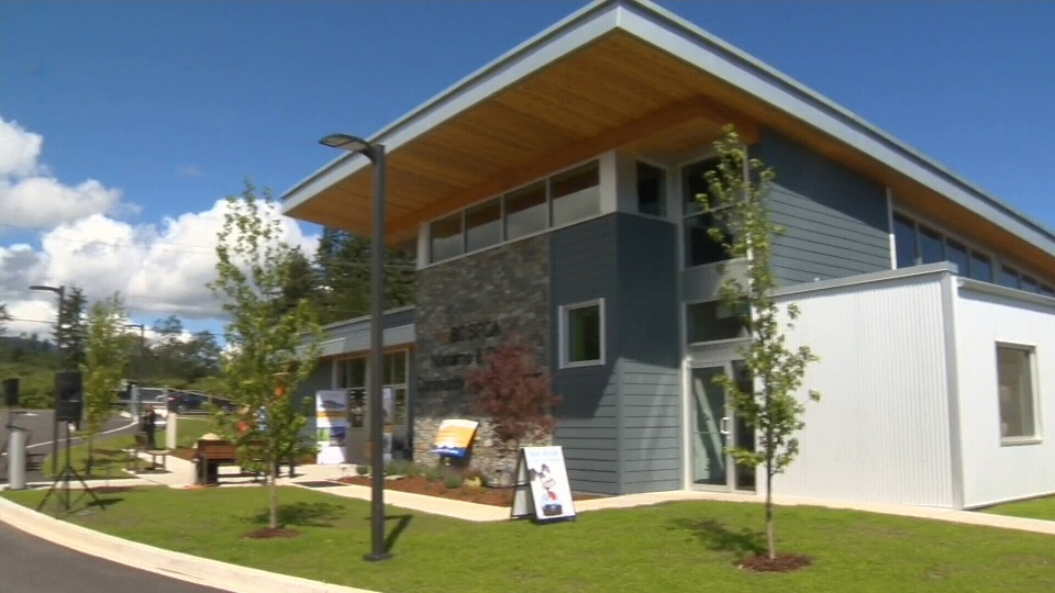 The new centre features two fenced dog parks, an animal washing station, outdoor and indoor dog kennels and a retail space. June 17, 2016 (CTV Vancouver Island)