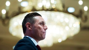 Ontario Progressive Conservative Leader Patrick Brown speaks to the Canadian Club in Toronto on Tuesday, June 7, 2016. (Nathan Denette /  THE CANADIAN PRESS)