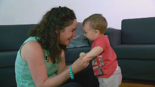 Motherwit member Patricia Gilmore said she suffered postpartum depression after the birth of her eight-month-old Thomas.