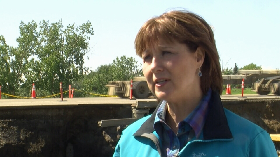 B.C. Premier Christy Clark visited Dawson Creek days after a local state of emergency was declared in the flooded Peace region town. (CTV)