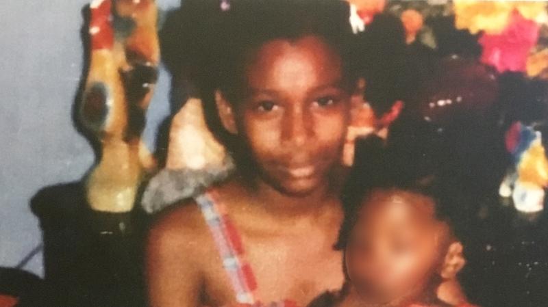 Melonie Biddersingh at around age 10 or 11 (Court exhibit)