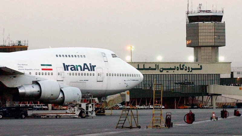 In this file photo, an Iran Air Boeing 747 at Mehrabad International Airport in Tehran, June 2003, is shown. (Hasan Sarbakhshian / AP)