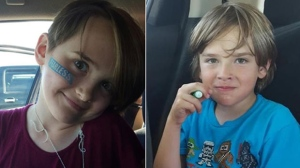 Police said 11-year-old Montana Giesbrecht and 9-year-old Josh Giesbrecht, both seen in these photos provided by police, were last seen in the St. James area.