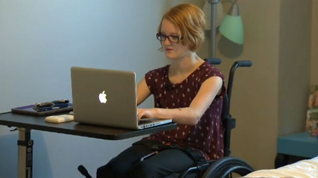 Alex Wist is more independent thanks to renovations to make her home accessible.