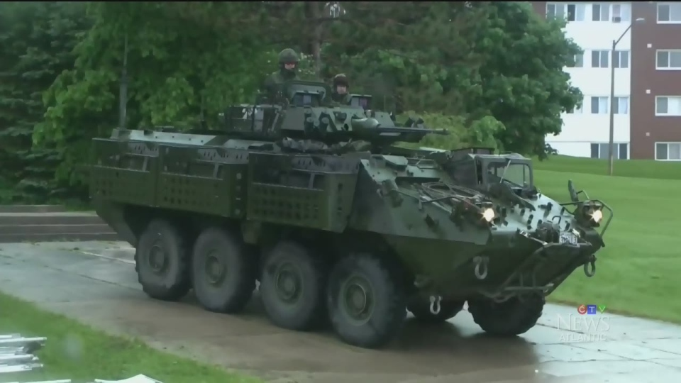Canada's first LAV memorial has been unveiled near Base Gagetown.