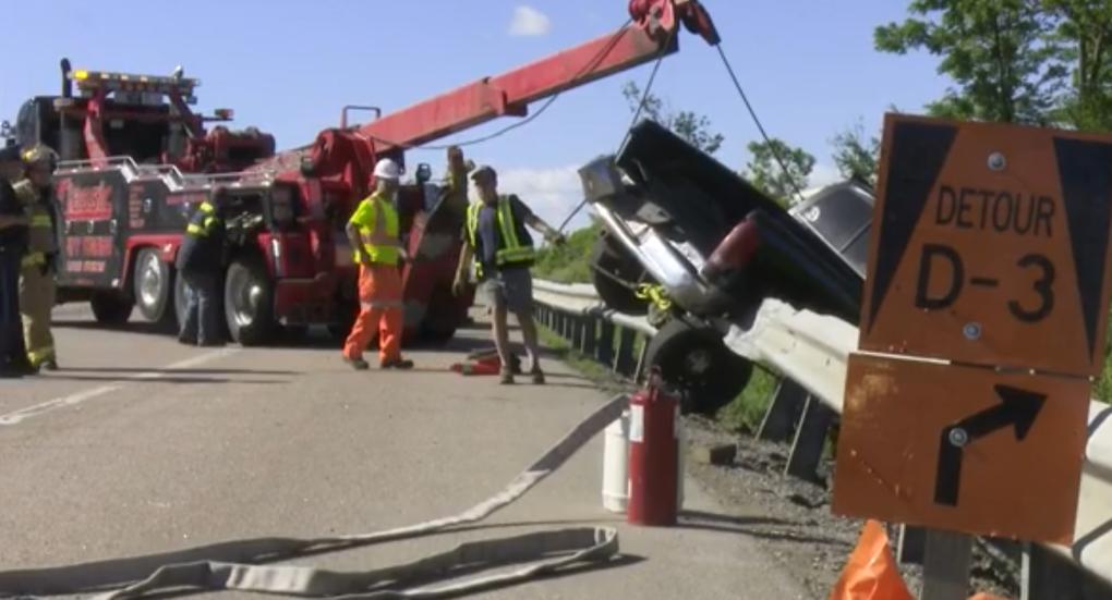 Crash on Highway 400 in Barrie