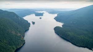 Indian Arm is seen looking toward the Burrard Inlet. (Pete Cline / CTV Vancouver)
