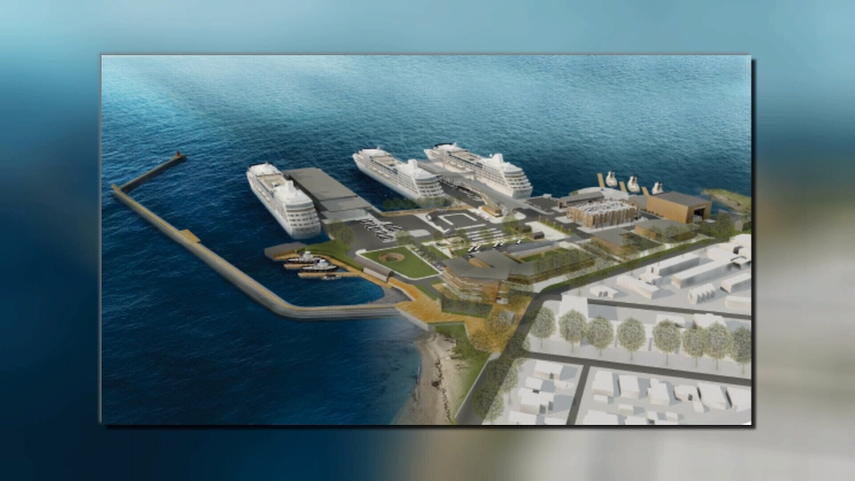 The master plan includes a new cruise terminal, a pedestrian and bike only gateway as well as a potential commercial and retail space.