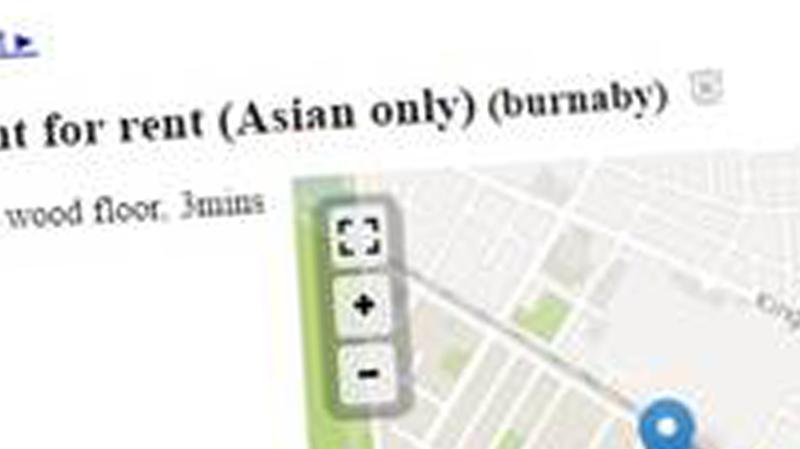 Discriminatory Craigslist ad
