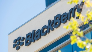 BlackBerry's headquarters in Waterloo, Ont. is shown on Wednesday, June 22, 2016. The company will release its third-quarter results this week. (THE CANADIAN PRESS / Eduardo Lima)