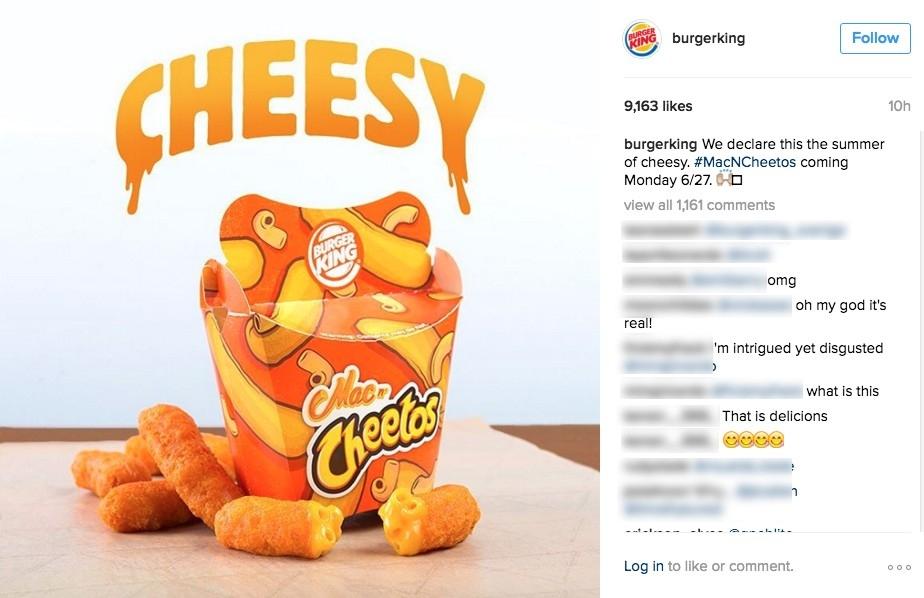 Burger King's Mac 'n Cheetos