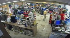 Gas station dance footage