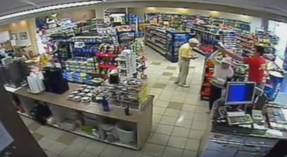 N.S. gas station employee Sean Fraser is seen on security camera footage dancing with an elderly customer.