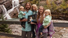 David and Collet Stephan pose with their children