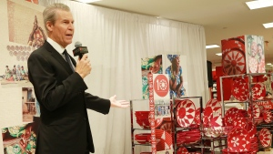 Terry J. Lundgren, Macy's chairman and CEO, speaks at Macy's 10th anniversary celebration of Rwanda Path to Peace on Tuesday, October 20, 2015 in New York. (Amy Sussman/AP Images for Macy's)