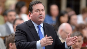 Conservative MP Jason Kenney asks a question during Question Period in the House of Commons on Parliament Hill in Ottawa on Wednesday, June 15, 2016. (THE CANADIAN PRESS/Adrian Wyld)