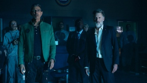 Jeff Goldblum as David Levinson, left, and Bill Pullman as Thomas Whitmore in a scene from 'Independence Day: Resurgence.' (Claudette Barius / Twentieth Century Fox)
