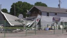 Damaged building in Delaware