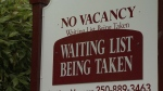 Vacancy rates are only expected to improve slightly to one per cent from the 0.8 of a percentage point. (CTV Vancouver Island)