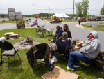 In this file photo, Mohawks camp in front of the Canadian border crossing station as they block the Seaway Bridge in the Mohawk community of Akwesasne on Cornwall Island, Ont., Monday, June 1, 2009. (Ryan Remiorz / THE CANADIAN PRESS)