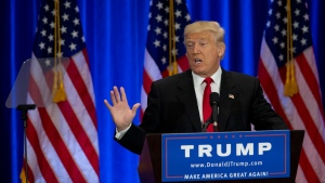 In this June 22, 2016 file photo, Republican presidential candidate Donald Trump speaks in New York. (AP Photo / Mary Altaffer, File)