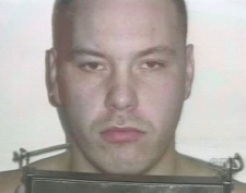 James Douglas Gloade, the son of native rights activist Nora Bernard, shown in this mugshot taken while in police custody.